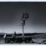Mit dem Wanderstock in Meran